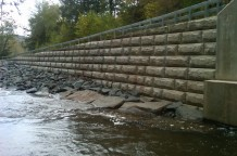 Waterway Retaining Wall